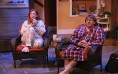 "Christina Lafortune and Alan Selby as Sonia and Vanya in Melbourne Civic Theatre's production of ""Vanya and Sonia and Masha and Spike."" Photo by Max Thornton."