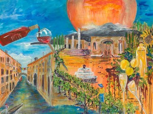 "By Phyllis Shipley from her ""Visions of Italy"" show at the Fifth Avenue Art Gallery"