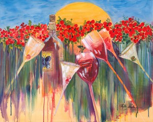 """Painting by Phyllis Shipley from her """"Visions of Italy"""" exhibit"""