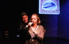 Randy Caldwell and Rachel Greshes  in MAURITIUS at Melbourne Civic Theatre. Photo by Max Thornton