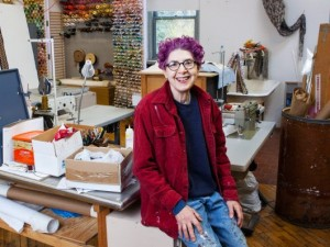 China Marks, pictured in her studio, will speak about her works in the new Foosaner Art Museum exhibition at 10:30 a.m. Saturday, Oct. 22 at Foosaner's Harris Auditorium. This is a detail of a photo by Kyoung Park.