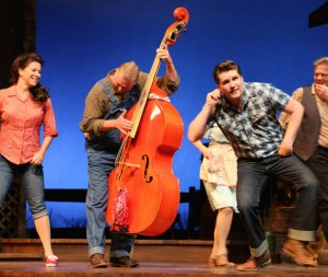 "John Marshall plays upright bass in Riverside Theatre's ""Ring of Fire: The Music of Johnny Cash"""