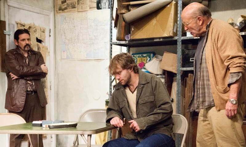 "From left: Marco DiGeorge, Zack Roundy and Allan Whitehead in ""American Buffalo"" at Theater on the Edge."