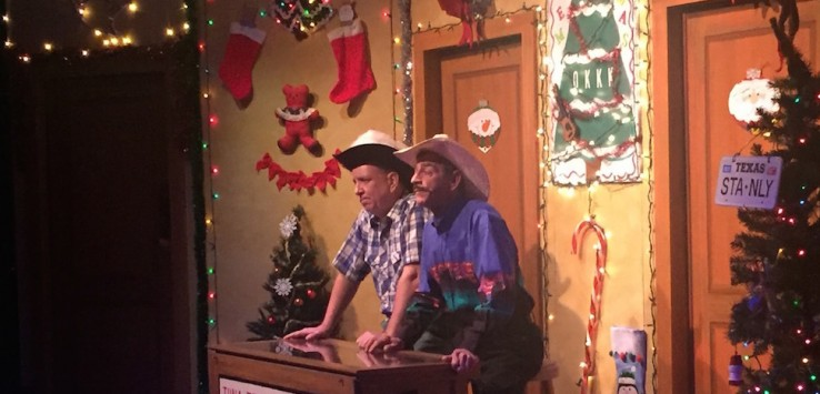 Steven Costner and Michael Thompson in A TUNA CHRISTMAS at Melbourne Civic Theatre. Photo by Pam Harbaugh.