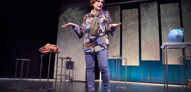 "Suzanne O'Donnell as Vivienne in ""Blackerry Winter"" at Orlando Shakes. Photo by  Tony Firriolo"