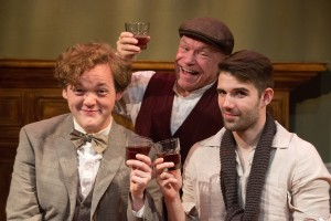 Wesley Slade, Glen Gover, Robert Johnston in Mad Cow Theatre's PICASSO AT THE LAPIN AGILE. Photo by Tom Hurst