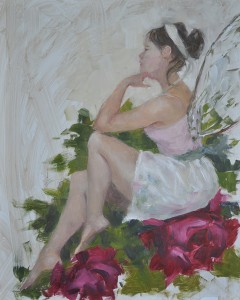 'FAIRY' is an oil painting by Lisa Mistiuk, on view during February at Fifth Avenue Art Gallery.