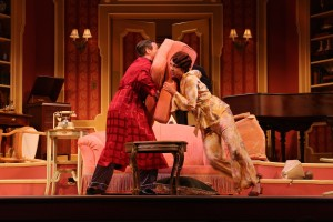 Elyot and Amanda fight in Riverside Theatre's PRIVATE LIVES