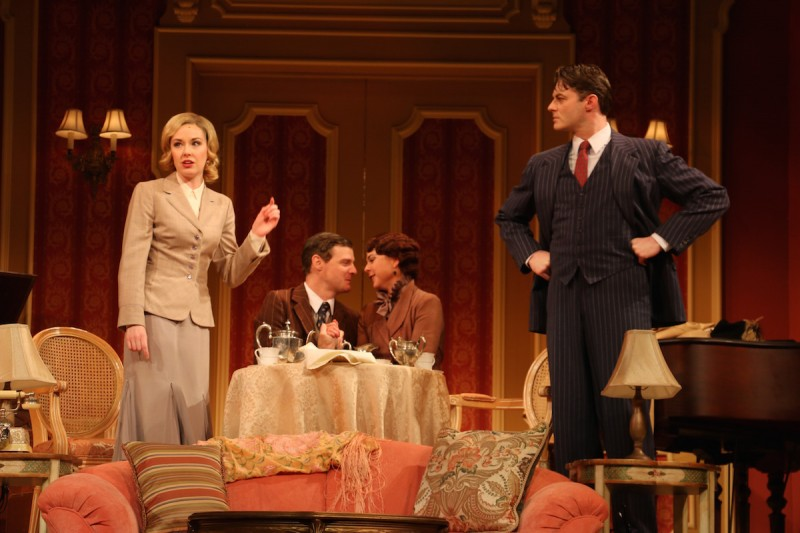 L to R: Liana Hunt, Jason Loughlin, Catherine Gowl and Spencer Plachy in PRIVATE LIVES at Riverside Theatre