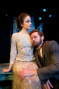 Rachel Comeau and Adam Reilly in THREE SISTERS at Mad Cow. Photo by Tom Hurst.