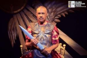 Michael Dorn as Antony in ANTONY AND CLEOPATRA at Orlando Shakes