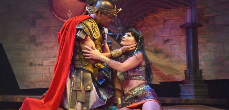 Michael Dorn as Antony and Caralyn Kozlowski as Cleopatra star in Orlando Shakespeare Theater's production of Antony and Cleopatra. Photo by Tony Firriolo.