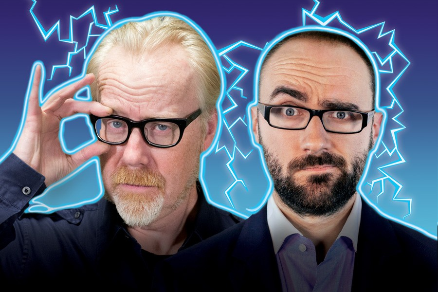From left, Adam Savage and Michael Stevens in BRAIN CANDY