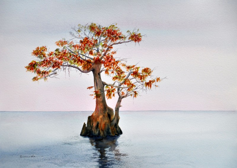 'CYPRESS NO. 5' by Witha Lacuesta is on view at the Fifth Avenue Art Gallery.