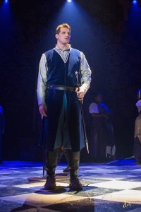 Joe Horton as Captain Phoebus in the Henegar Center's HUNCHBACK OF NOTRE DAME