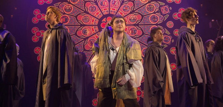 Dillon Giles as Quasimodo in THE HUNCHBACK OF NOTRE DAME at the Henegar. Photo by Dana Niemeier.