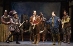 Something Rotten, St. James Theatre, Josh Grisetti, Leslie Kritzer, Will Chase, Rob McClure, Brad Oscar, Catherine Brunell, Edward Hibbert, David Beach. Photo by Joan Marcus