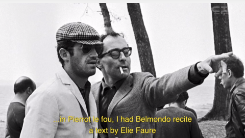 From left: Jean-Paul Belmondo and Jean-Luc Godard