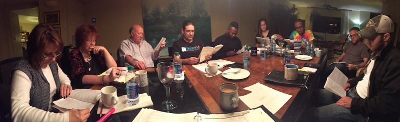 First read through of Theater on the Edge upcoming production of SUPERIOR DONUTS