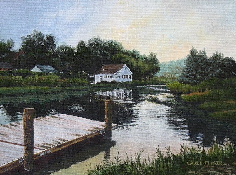 LAZY RIVER AFTERNOON, an acrylic by Susan Carden-Flicker