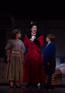 Ashley Willsey is Mary Poppins in MARY POPPINS THE MUSICAL at Cocoa Village Playhouse. Photo by Goforth Photography.