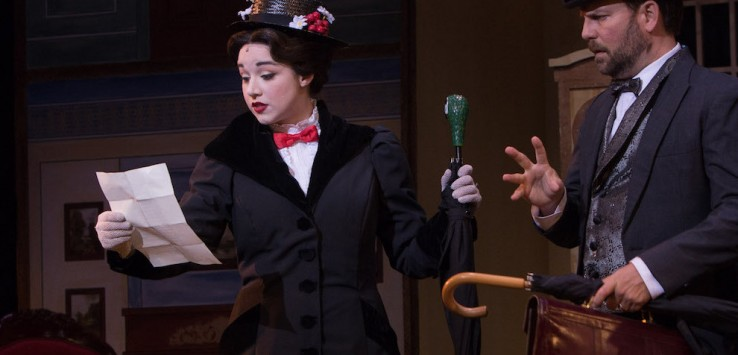 MARY POPPINS the Musical at Cocoa Village Playhouse Photo by Goforth Photography.