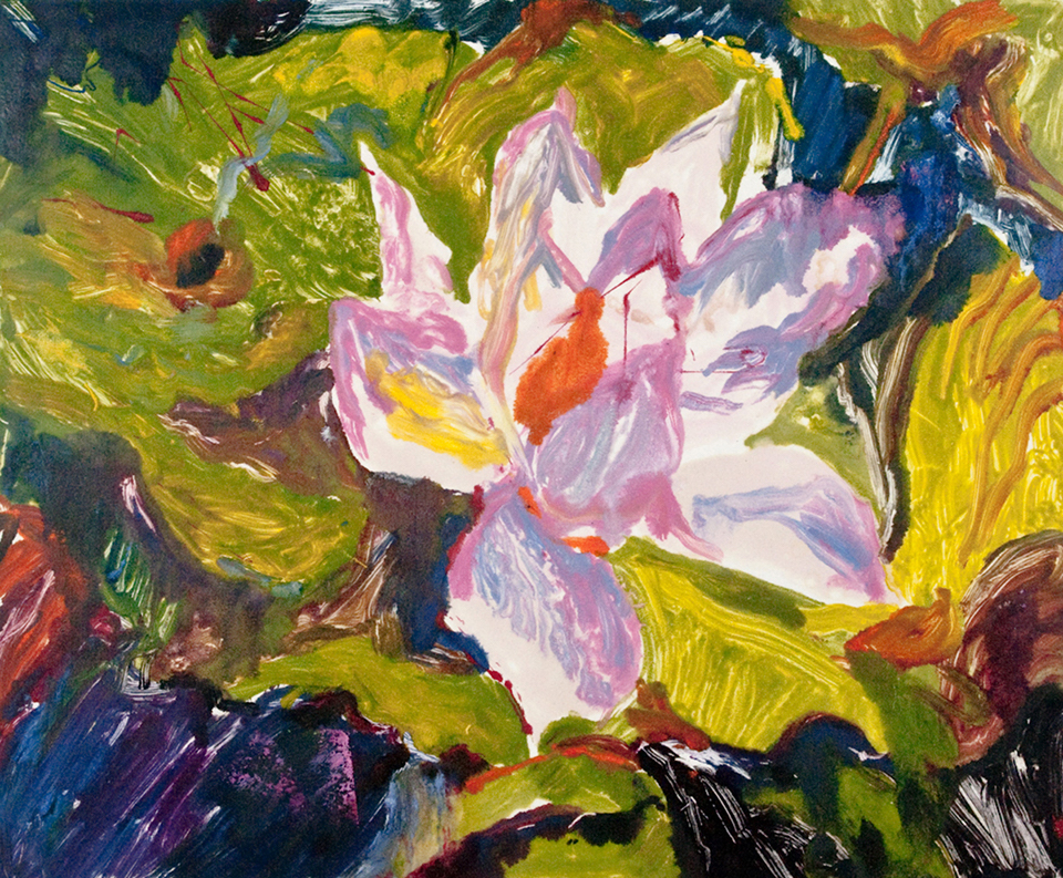 Floral painting by Marlis Newman.
