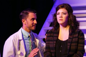 Alexander Browne and Natalie Palmer in Titusville Playhouse's production of NEXT TO NORMAL. Photo by Niko Stamos.