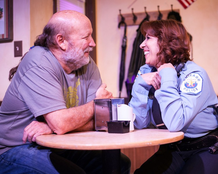 Allan Whitehead and Cecilia Gazzara in SUPERIOR DONUTS. Photo by Monica Mulder Photography
