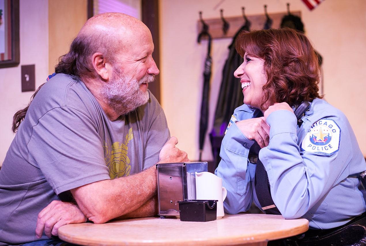 Allan Whitehead and Cecilia Gazzara in SUPERIOR DONUTS. Photo by Monica Mulder Photography