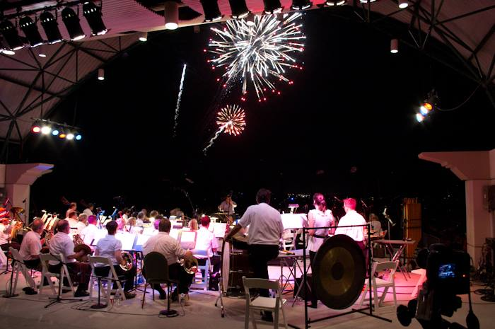 "Brevard Symphony Orchestra performing Tschaikovsky's ""1812 Overture"" at the annual Fourth of July concert. Photo by Nicholas Reynolds."