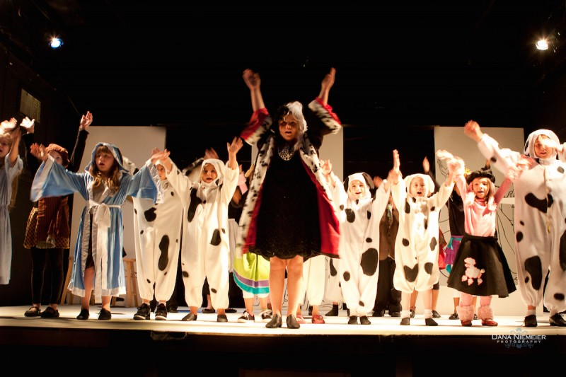 From the Henegar's previous Summer Camp production of 1001 DALMATIONS. Photo by Dana Neimeier