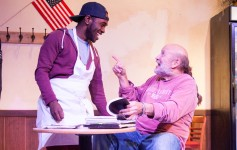 Sean Philippe and Allan Whitehead in SUPERIOR DONUTS. Photo by Monica Mulder Photography