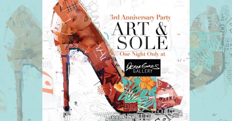 Art & Sole Fundraiser at Derek Gores Gallery