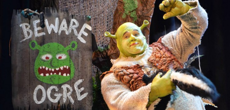 Joe Tokarz as SHREK at Titusville Playhouse. Photo by Doug Lebo