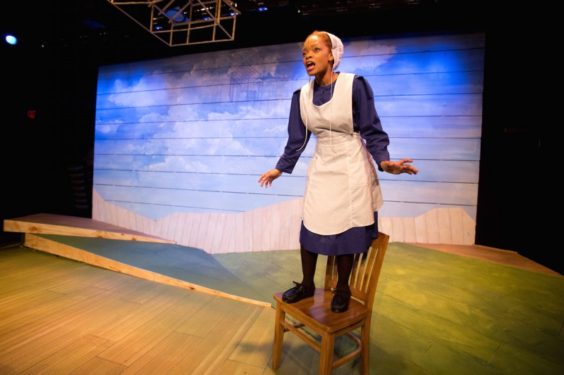 "Trenell Mooring in Mad Cow Theatre's production of ""The Amish Project"" by Jessica Dickey. Photo by Tom Hurst"