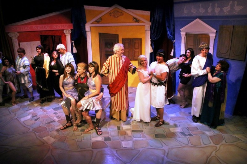 Melbourne Civic Theatre production of A FUNNY THING HAPPENED ON THE WAY TO THE FORUM. Photo by Max Thornton