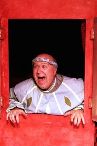 Rob Dickman is Pseudolus in MCT's production of A FUNNY THING HAPPENED ON THE WAY TO THE FORUM. Photo by Max Thornton