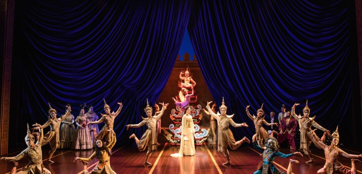 The cast of Rodgers & Hammerstein's The King and I. Detail of photo by Matthew Murphy