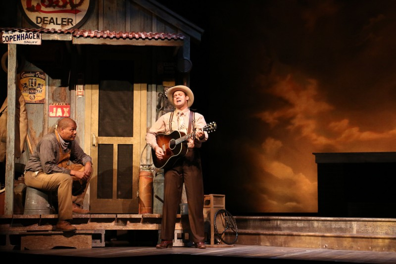 Tony Perry and Ben Hope in HANK WILLIAMS: LOST HIGHWAY at Riverside Theatre