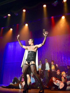Luke Atkison did the rock concert style lighting for ROCKY HORROR SHOW