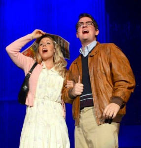 Kristen Sellers and Kyle McDonald as Janet and Brad in ROCKY HORROR SHOW