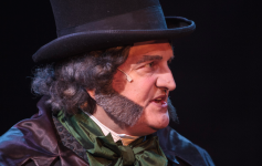 Rick Roach as Ebeneezer Scrooge in A CHRISTMAS CAROL at Cocoa Village Playhouse. Photo by Jonathan Goforth.