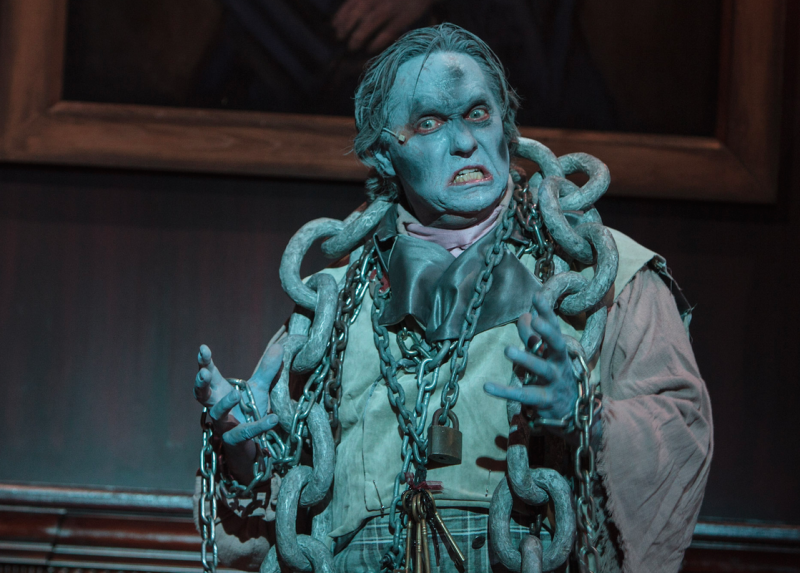 Sam Henderson is Jacob Marley in A CHRISTMAS CAROL at Cocoa Village Playhouse. Photo by Jonathan Goforth.